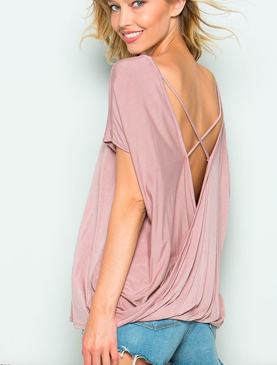 CY Fashion Cage Open Back Detail Top