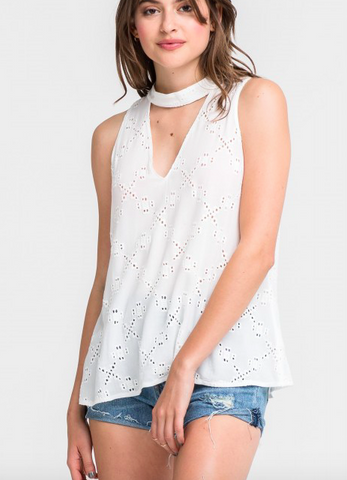 Lush tank top with collar