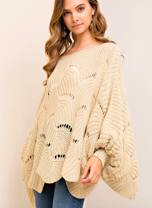 Entro scalloped edge sweater