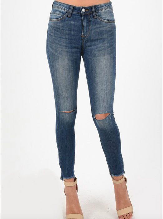 Judy Blue High Waist Destroyed Ankle Skinny