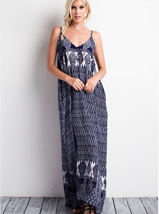 Wishlist Boho Printed Maxi Dress