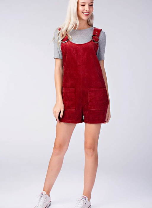 Honey Punch Corduroy Romper