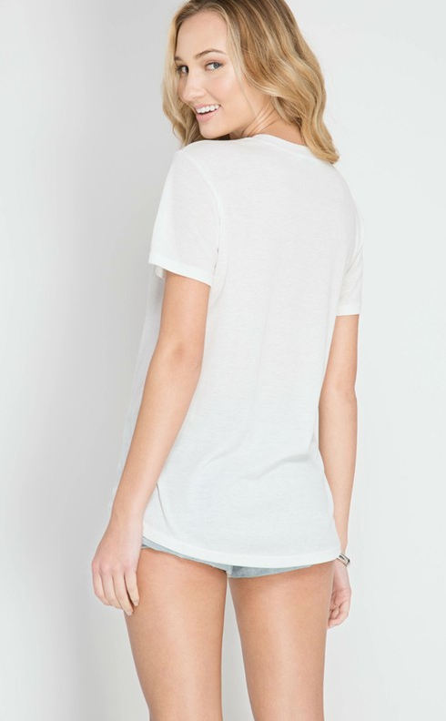 She+Sky ribbed top w laceup front detail