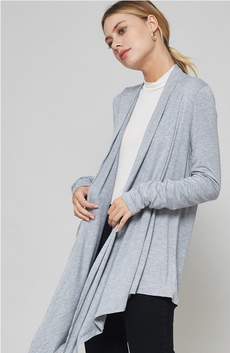 Promesa Open Front Draped Cardigan