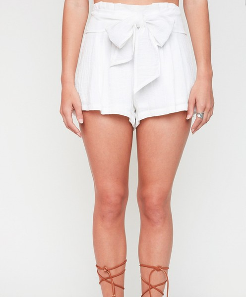 Hayden bowtie pleat shorts