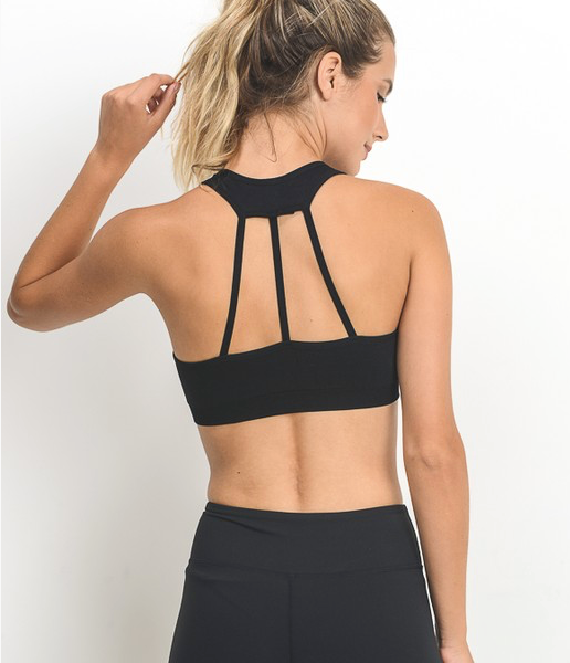 Mono B Halter Neck 3 Strap Sports Bra