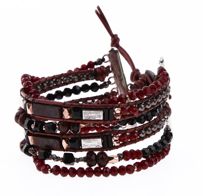 Nakamol layered bracelet with bead detail