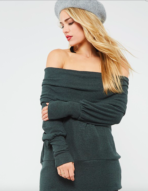Promesa off the shoulder knit sweater