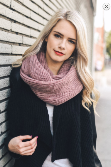 Leto Ribbed Knit Infinity Scarf