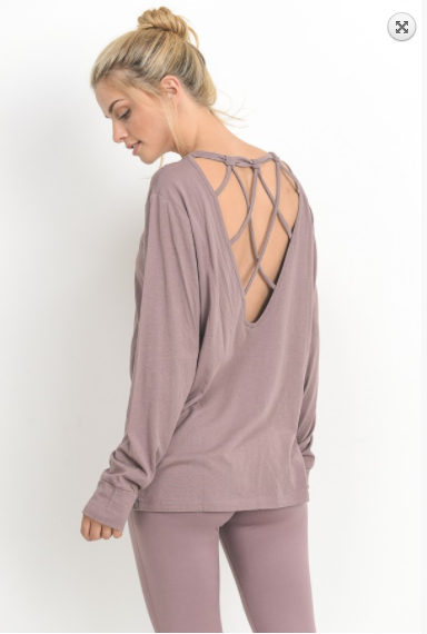 Mono B back criss-cross strap top