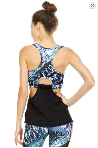 Mono B side cutout & draped front active top