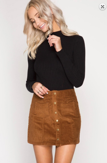 Faith Apparel Corduroy Mini Skirt