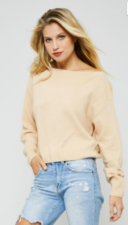 Promesa crew neck sweater w ribbed trim