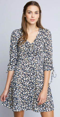 Hayden floral v-neck dress