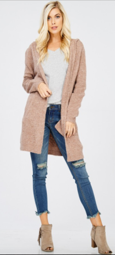 Wishlist Open Hooded Cardigan