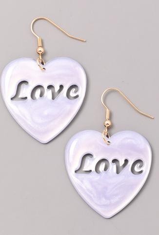 FAME Love Cutout Heart Earring