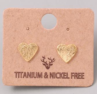 Fame heart earrings