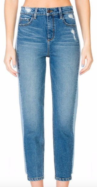 Cello High Rise Tuxedo Stripe Jeans