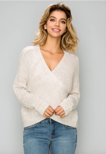 B-Tween long sleeve overlap front sweater