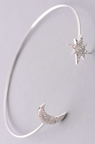 FAME Crescent Moon & Star End Cuff