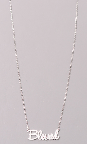 Fame 'blessed' pendant necklace