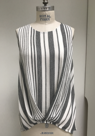 Staccato sleeveless striped top