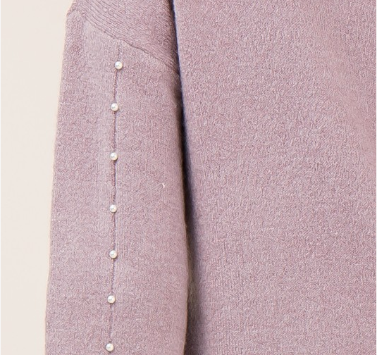 Entro sweater with pearl detail