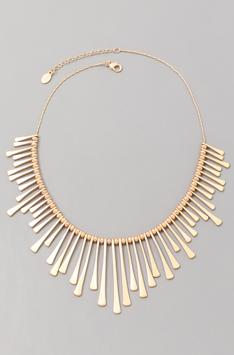 Fame electric forest metallic statement necklace