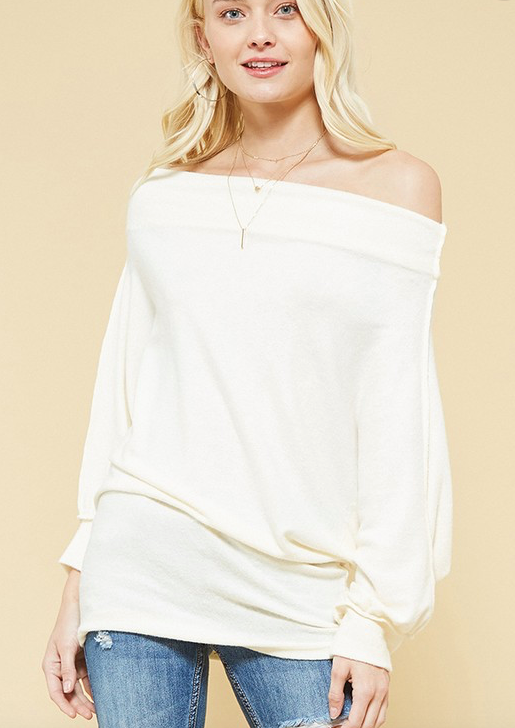 Promesa off the shoulder 3/4 sleeve top