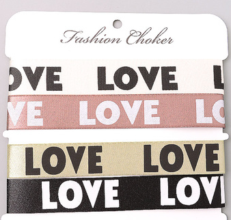 FAME Love Ribbon Choker Set