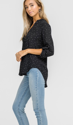 LUSH V Neck Collar Shirt