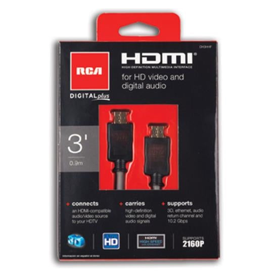 RCA Digital Plus HDMI To HDMI Cable (3ft)