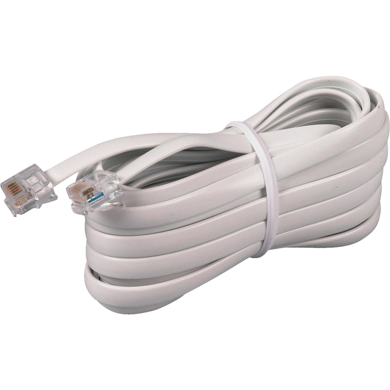 RCA Phone Line Cord 15ft (White)