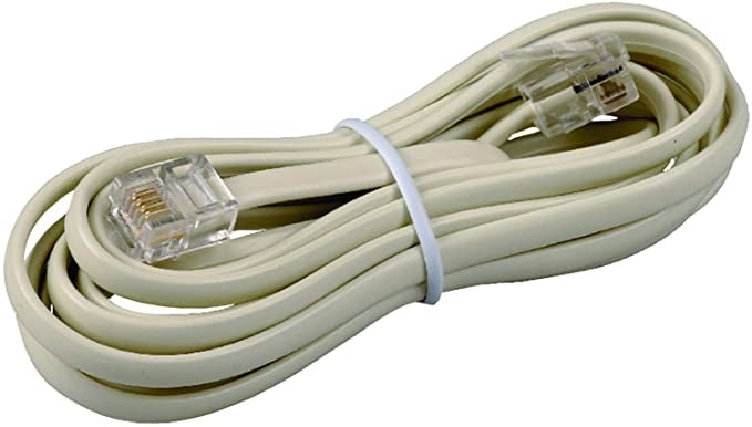 RCA Phone Line Cord 7ft (Beige)