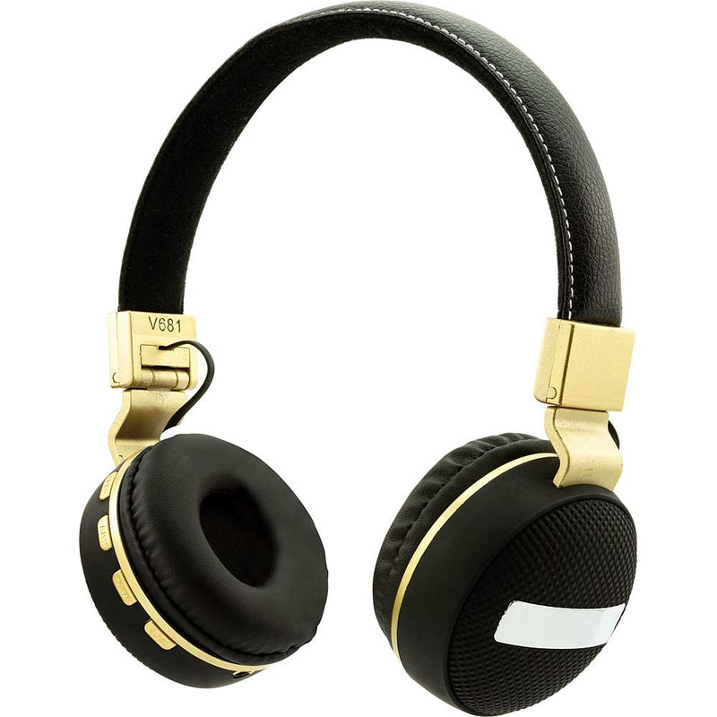 Coby Wireless Folding Stereo Headphones (Black/Gold)