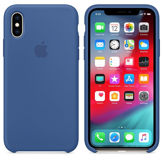 Apple Silicone Case for iPhone X/XS (Delft Blue)