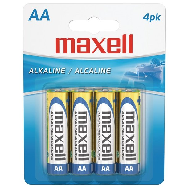 Maxell AA Alkaline Batteries (4 Pack)