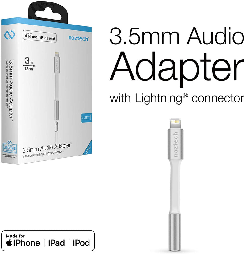 Naztech 3.5mm Audio Adapter with Lightning Connector