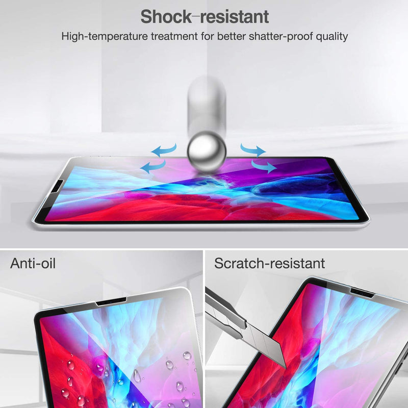 ProCase Tempered Glass Screen Film Guard Screen Protector for iPad 12.9 4th Gen 2020 and 3rd Gen 2018 - Clear