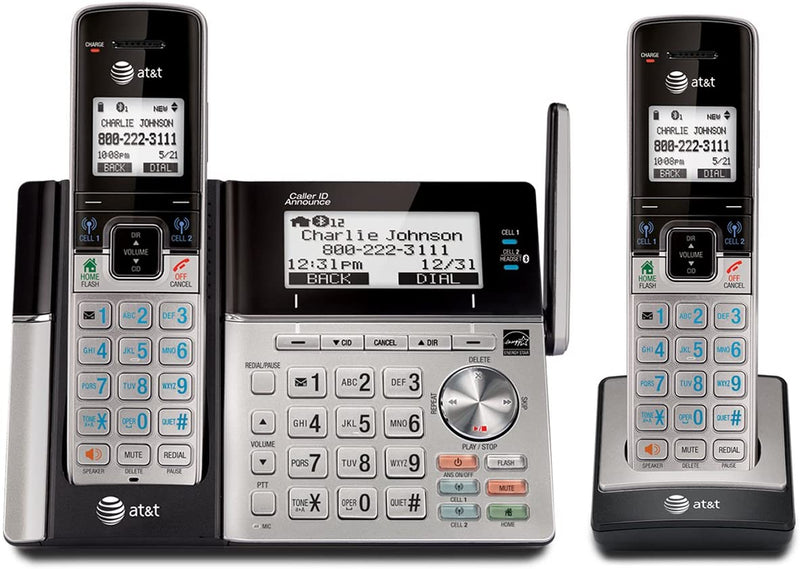 AT&T TL96273 DECT 6.0 2-Handset Connect to Cell Answering System with Dual Caller ID/Call Waiting