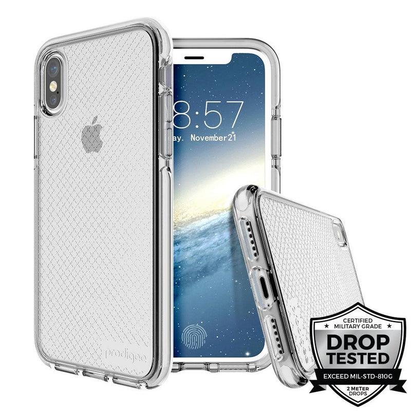 Prodigee Safetee for iPhone XS Max (Silver)