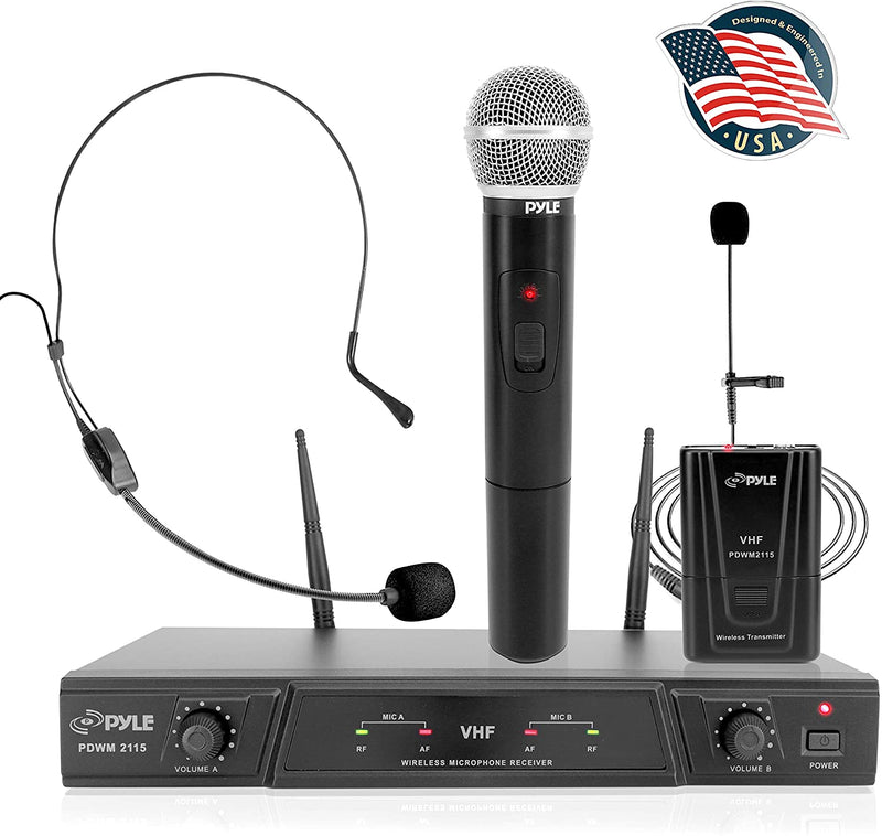Pyle PDWM2115 VHF Wireless Microphone Receiver System