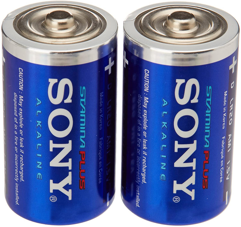 Sony Stamina Plus Xtra Power Alkaline D Battery (2 Pack)