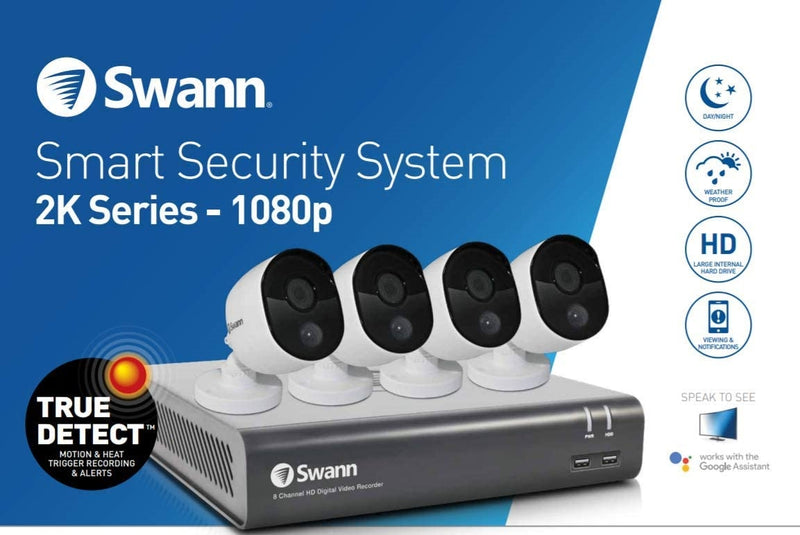 Swann 4-Channel 1080p DVR with 1TB HDD & 4 1080p Night Vision Bullet Cameras