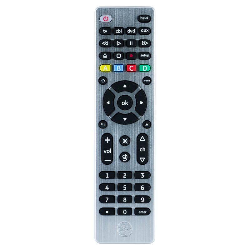 GE 33709 UltraPro 4-Device Universal Remote with Sound Bar and Streaming Player Compatibility