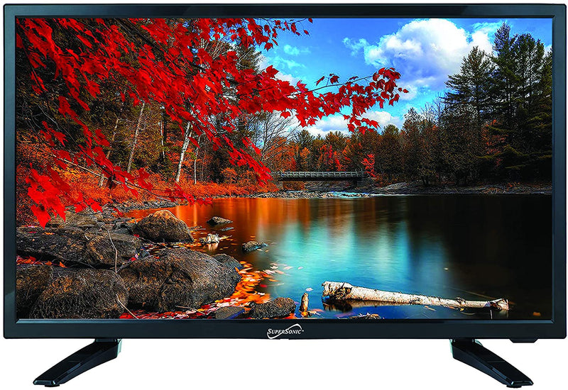 "Supersonic 19"" 720p LED HDTV, AC/DC Compatible with RV/Boat"