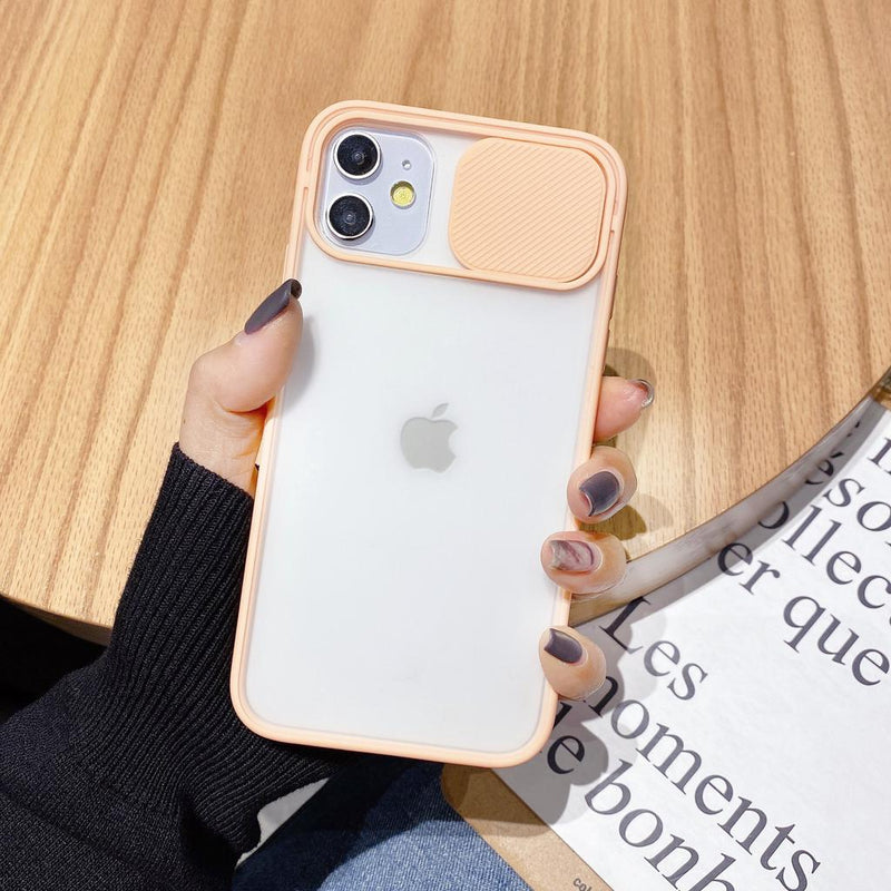 Slide Camera Lens Protection Shockproof Phone Case for iPhone 11