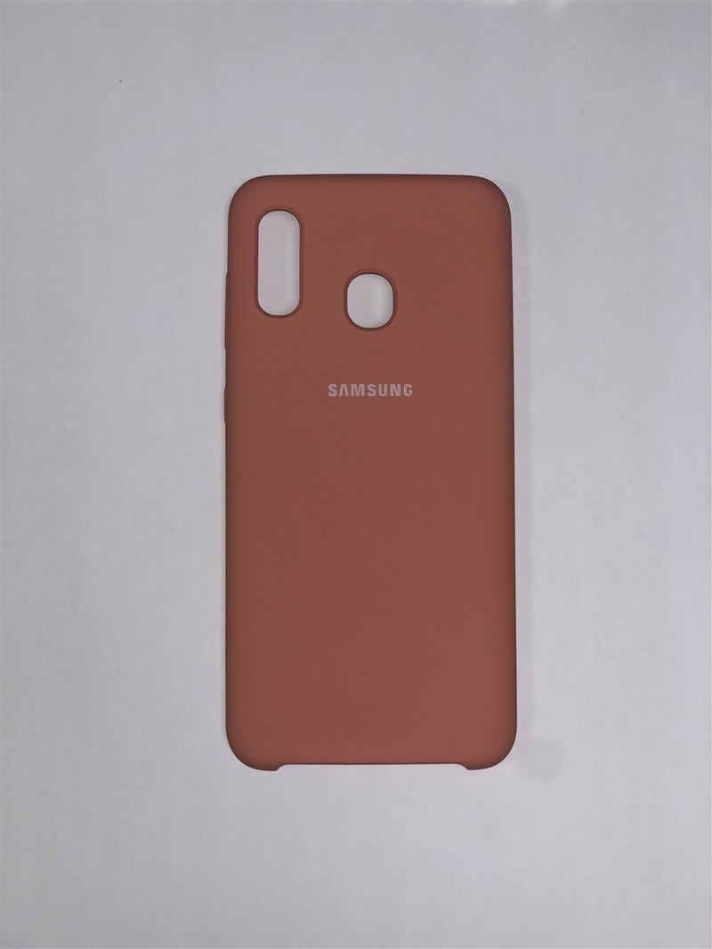 Samsung Silicone Cover for Galaxy A20 (Pink)