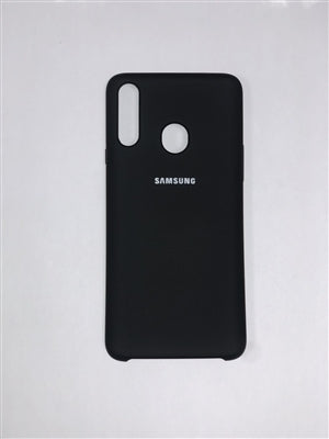 Samsung Silicone Cover for Galaxy A20S (Black)