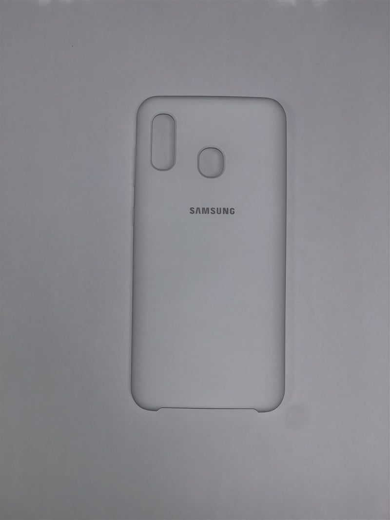 Samsung Silicone Cover for Galaxy A20 (White)